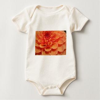 Orange Flower Pattern Baby Bodysuit