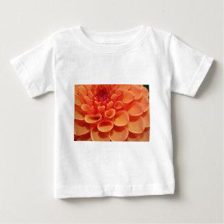 Orange Flower Pattern Baby T-Shirt