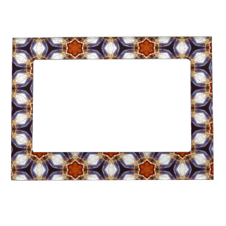 Orange Flower Pattern Magnetic Frame