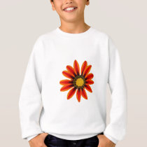 Orange Flower Pattern Sweatshirt