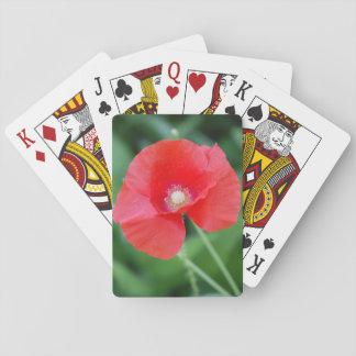 Orange flower playing cards