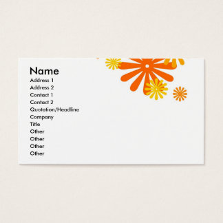 Orange Flower Power Business Card