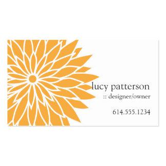 Orange Flower Power Chic Stylish Business Cards