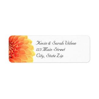 Orange Flower Return Address Labels