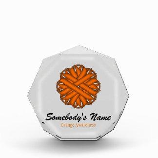 Orange Flower Ribbon Acrylic Award