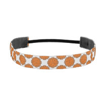Orange Flower Ribbon Athletic Headband