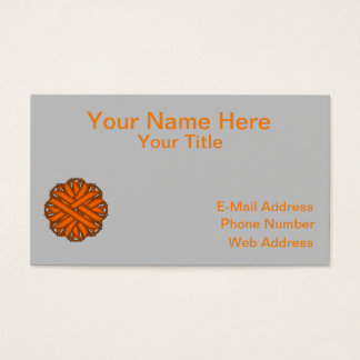 Orange Flower Ribbon Business Card