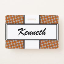 Orange Flower Ribbon by Kenneth Yoncich Badge