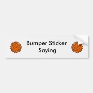 Orange Flower Ribbon by Kenneth Yoncich Bumper Sticker
