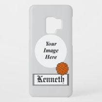 Orange Flower Ribbon by Kenneth Yoncich Case-Mate Samsung Galaxy S9 Case