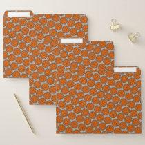Orange Flower Ribbon by Kenneth Yoncich File Folder