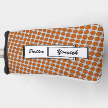 Orange Flower Ribbon by Kenneth Yoncich Golf Head Cover