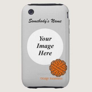 Orange Flower Ribbon by Kenneth Yoncich iPhone 3 Tough Case