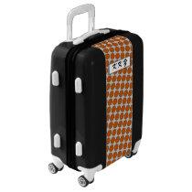 Orange Flower Ribbon by Kenneth Yoncich Luggage