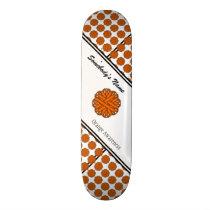 Orange Flower Ribbon by Kenneth Yoncich Skateboard
