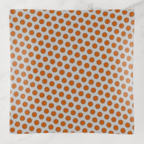 Orange Flower Ribbon by Kenneth Yoncich Trinket Trays