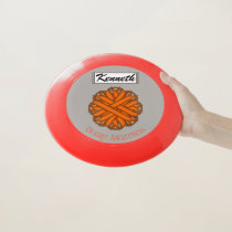 Orange Flower Ribbon by Kenneth Yoncich Wham-O Frisbee