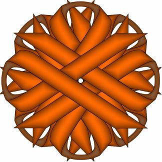Orange Flower Ribbon Cutout