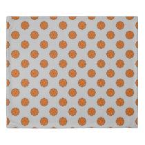 Orange Flower Ribbon Duvet Cover