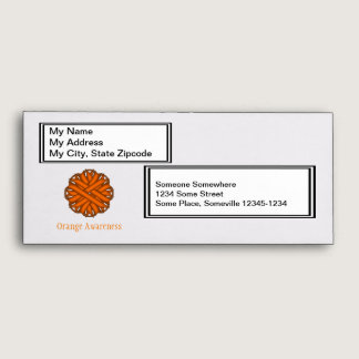 Orange Flower Ribbon Envelope