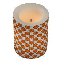 Orange Flower Ribbon Flameless Candle