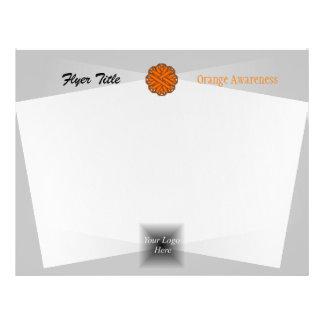 Orange Flower Ribbon Flyer