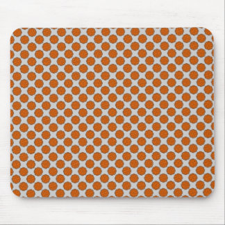 Orange Flower Ribbon Mouse Pad