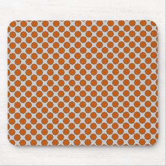 Orange Flower Ribbon Mouse Pad