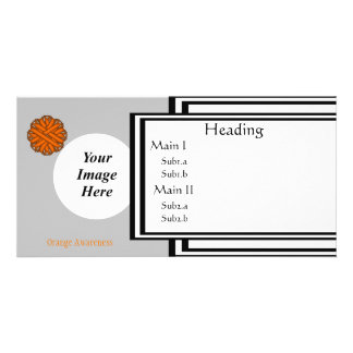 Orange Flower Ribbon Template