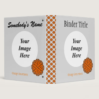Orange Flower Ribbon Template Binder