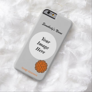 Orange Flower Ribbon Template by Kenneth Yoncich Barely There iPhone 6 Case