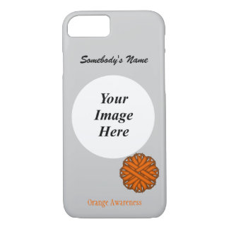Orange Flower Ribbon Template by Kenneth Yoncich iPhone 7 Case