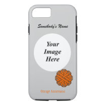 Orange Flower Ribbon Template by Kenneth Yoncich iPhone 8/7 Case