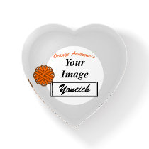 Orange Flower Ribbon Template by Kenneth Yoncich Paperweight