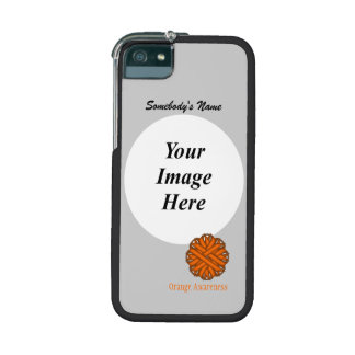 Orange Flower Ribbon Template Cover For iPhone 5/5S