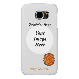 Orange Flower Ribbon Template Samsung Galaxy S6 Cases