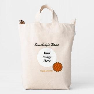 Orange Flower Ribbon Template Duck Bag
