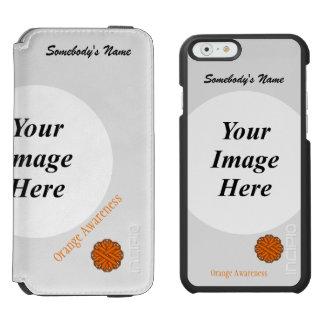 Orange Flower Ribbon Template iPhone 6/6s Wallet Case