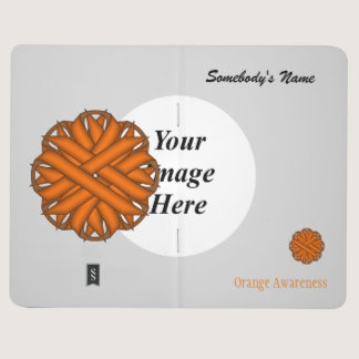 Orange Flower Ribbon Template Journal
