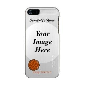 Orange Flower Ribbon Template Metallic Phone Case For iPhone SE/5/5s