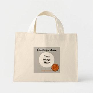 Orange Flower Ribbon Template Mini Tote Bag