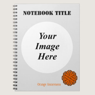 Orange Flower Ribbon Template Notebook