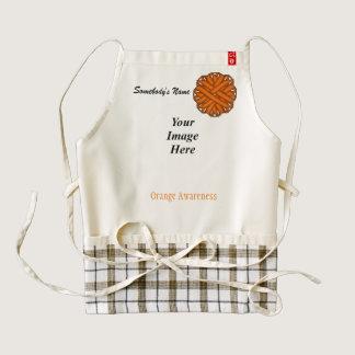 Orange Flower Ribbon Template Zazzle HEART Apron