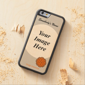Orange Flower Ribbon Tmpl by Kenneth Yoncich Carved® Maple iPhone 6 Bumper Case