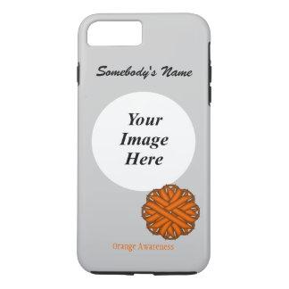 Orange Flower Ribbon Tmpl by Kenneth Yoncich iPhone 8 Plus/7 Plus Case