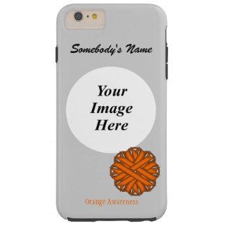 Orange Flower Ribbon Tmpl by Kenneth Yoncich Tough iPhone 6 Plus Case