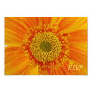 Orange Flower RSVP Invitation