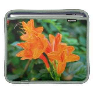 Orange flower sleeve for iPads