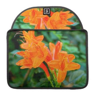 Orange flower sleeves for MacBook pro