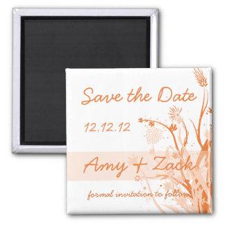 Orange Flower Splash Save the Date Magnet